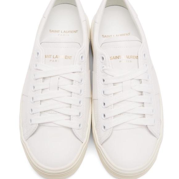 37515949425 Yves Saint Laurent Shoes | Ysl Court Classic White Sneakers | Poshmark